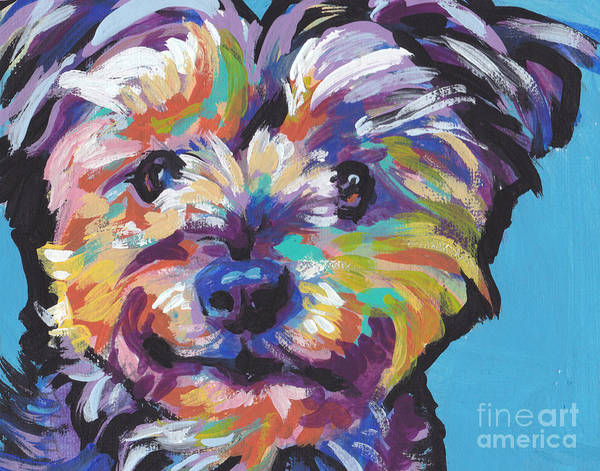 Yorkie Wall Art - Painting - Itsy Bitsy Best Friend by Lea S