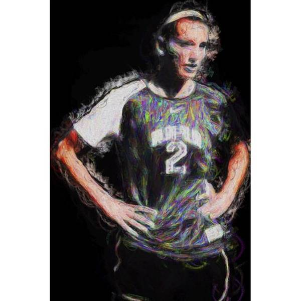 Celebrity Wall Art - Photograph - @iupui #soccer #futbol #painting by David Haskett II