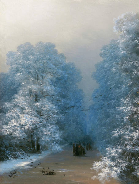 Painting - Ivan Aivazovsky Winter Landscape 1876 by Movie Poster Prints