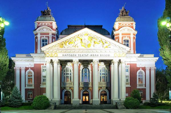 Photograph - Ivan Vazov National Theatre by Fabrizio Troiani