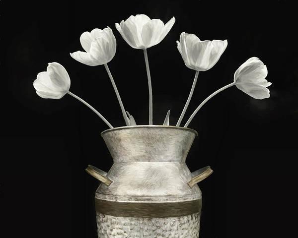 Tulips Mixed Media - Ivory Tulips by Lori Deiter