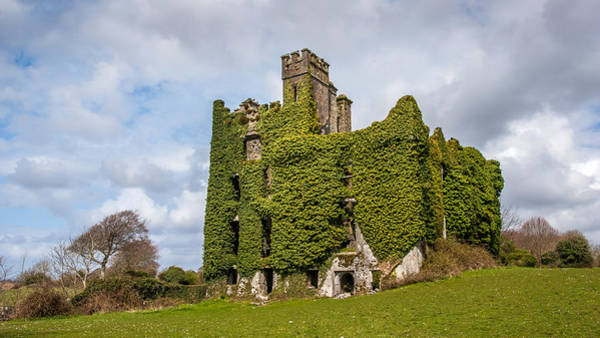 Photograph - Ivy Covered Ruined Castle Ireland by Pierre Leclerc Photography