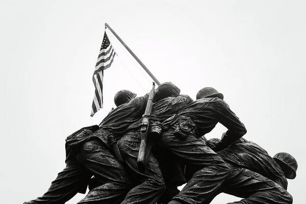 Photograph - Iwo Jima On White Background by Brandon Bourdages