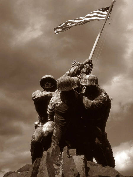 Photograph - Iwo Jima War Memorial Washington by Peter Potter