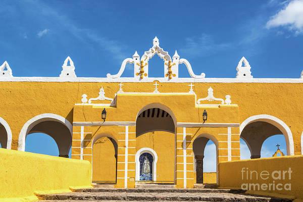 Wall Art - Photograph - Izamal Monastery Entrance by Jess Kraft