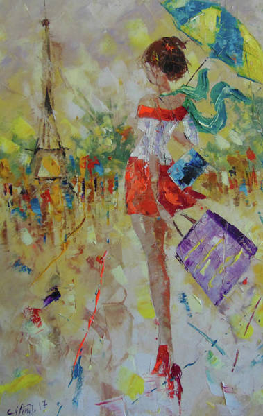 Painting - J Adore Paris by Frederic Payet
