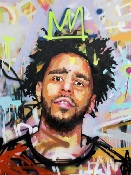 Wall Art - Painting - J Cole by Richard Day
