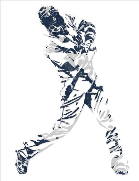 Wall Art - Mixed Media - J D Martinez Detroit Tigers Pixel Art 3 by Joe Hamilton