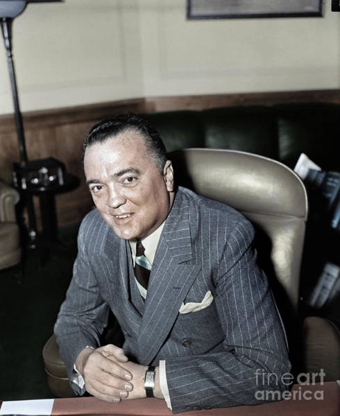 Photograph - J. Edgar Hoover by Granger