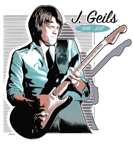 Rock Drawing - J Geils by Greg Joens