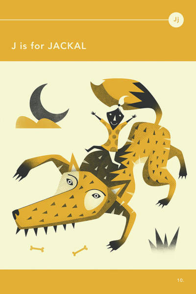 Illustrator Wall Art - Digital Art - J Is For Jackal by Jazzberry Blue