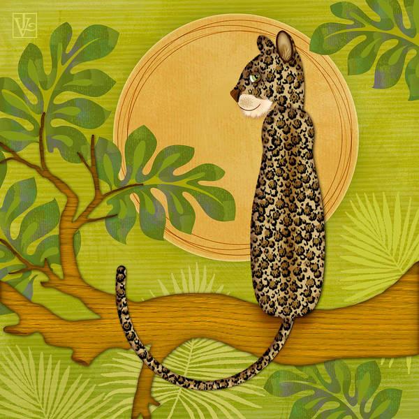 Wall Art - Digital Art - J Is For Jaguar by Valerie Drake Lesiak