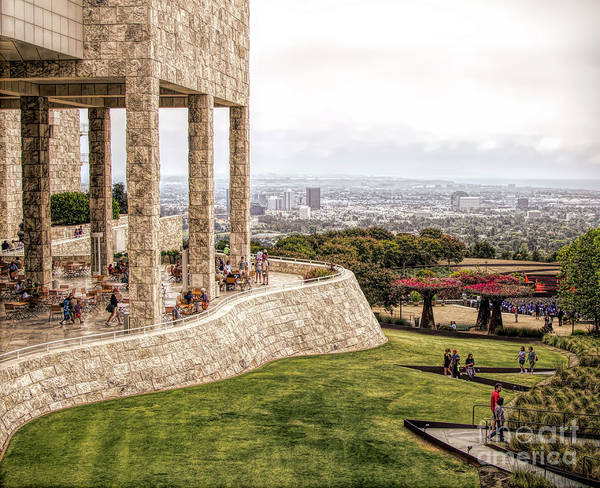 Wall Art - Photograph - J. Paul Getty Museum Los Angeles Landscape Architecture  by Chuck Kuhn