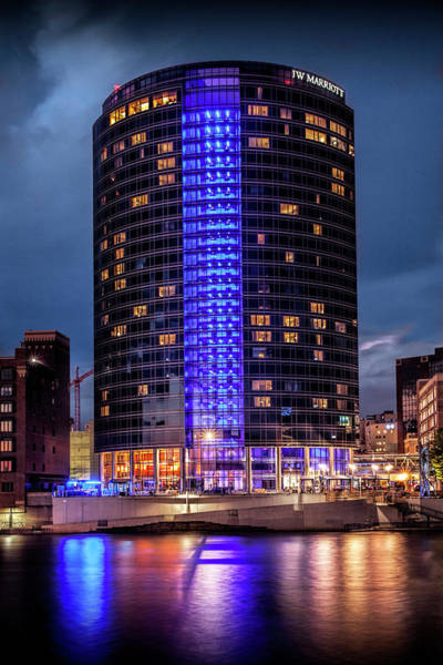 Photograph - J W Marriott Hotel By The Grand River In Grand Rapids Michigan by Randall Nyhof