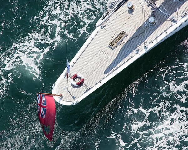 Racing Yacht Photograph - J5 Ranger Stern by Katherine Gendreau