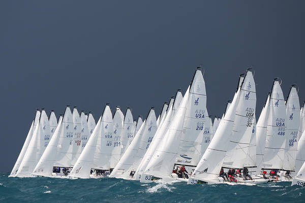 Photograph - J70s Key West Race Week by Steven Lapkin