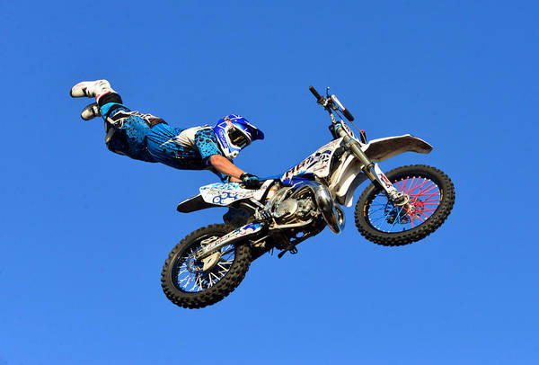 Dirt Bike Photograph - Holding On by David Lee Thompson
