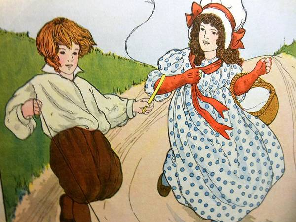 Mother Goose Drawing - Tom Little And Margaret by Lord Frederick Lyle Morris - Disabled Veteran