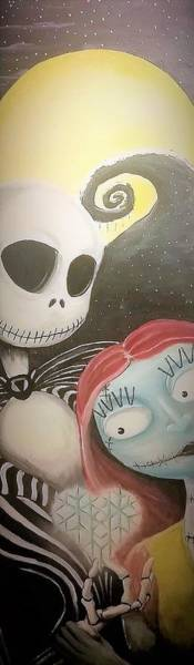 Skellington Painting - Jack And Sally Heart Snow Flake by Ryan Alsup