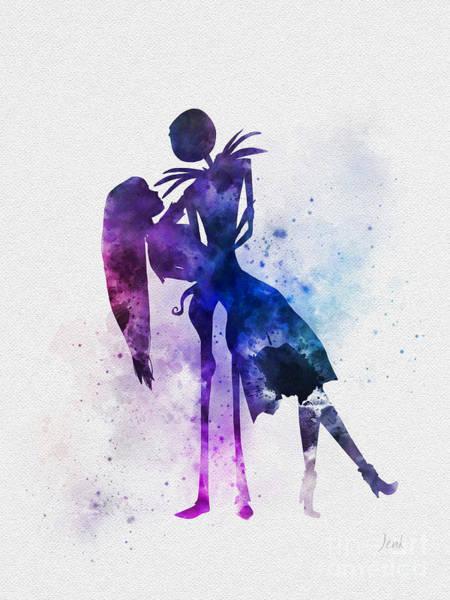 Tim Burton Wall Art - Mixed Media - Jack And Sally by My Inspiration