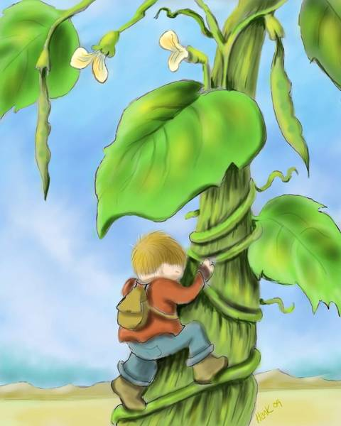 Wall Art - Digital Art - Jack And The Beanstalk by Hank Nunes