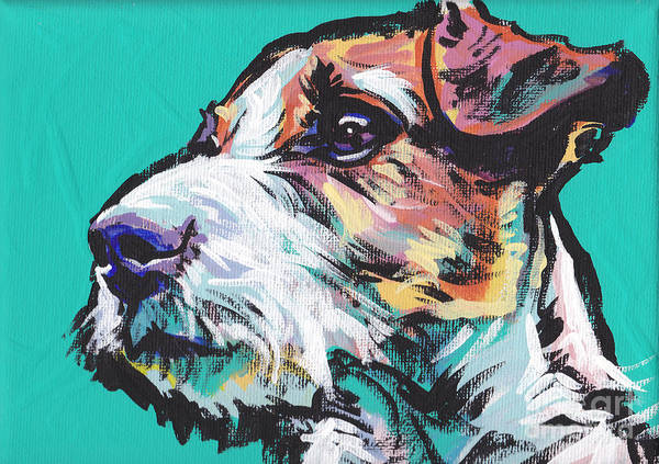 Jack Russell Wall Art - Painting - Jack Be Nimble  Jack Russell Terrier by Lea S