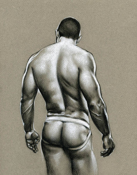Male Nude Drawing - Jack by Chris Lopez