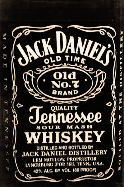 Daniel Wall Art - Digital Art - Jack Daniel's by David Stasiak