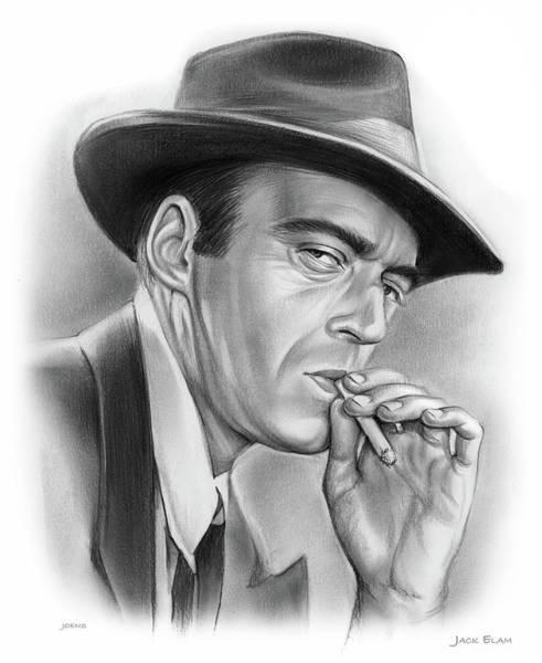 Cowboy Drawing - Jack Elam by Greg Joens