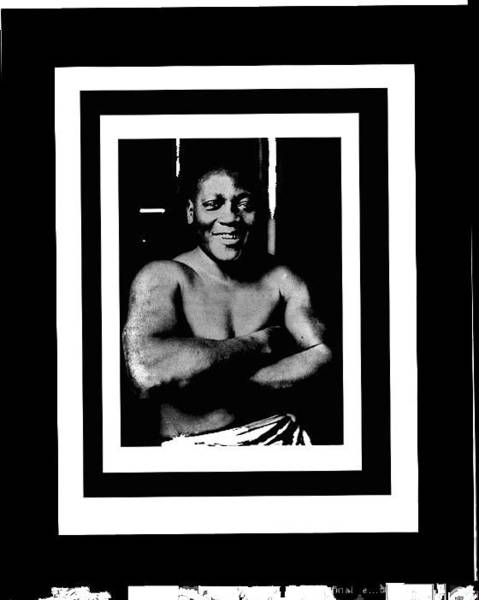 Photograph - Jack Johnson Heavyweight Boxing Champion 1915 Coolant Frames Added 2016 by David Lee Guss