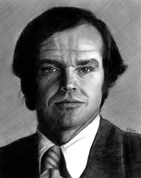 Cuckoo Drawing - Jack Nicholson Portrait by David Rives