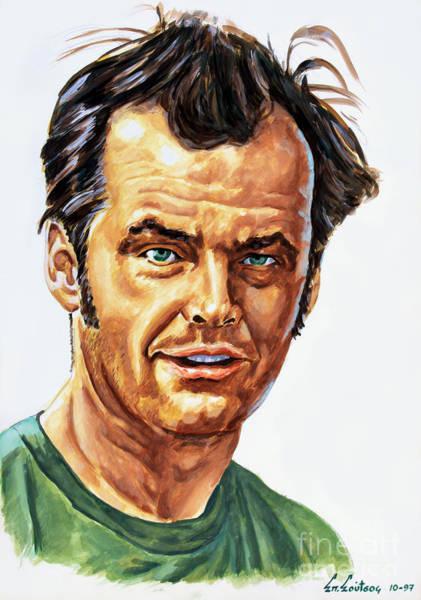 De Niro Wall Art - Painting - Jack Nicholson by Star Portraits Art