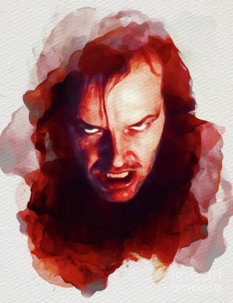 Shining Painting - Jack Nicholson, The Shining by John Springfield