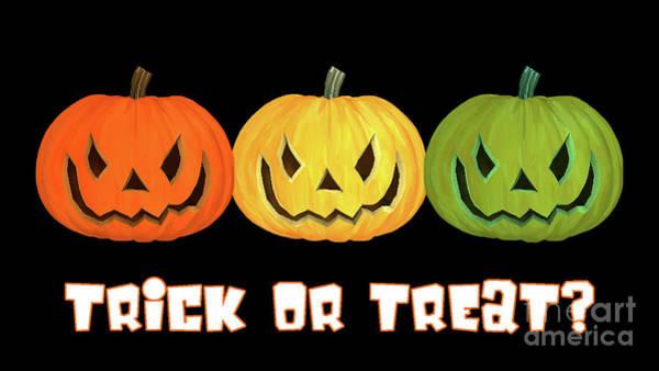Trick Or Treat Digital Art - Jack-o-lanterns by Methune Hively