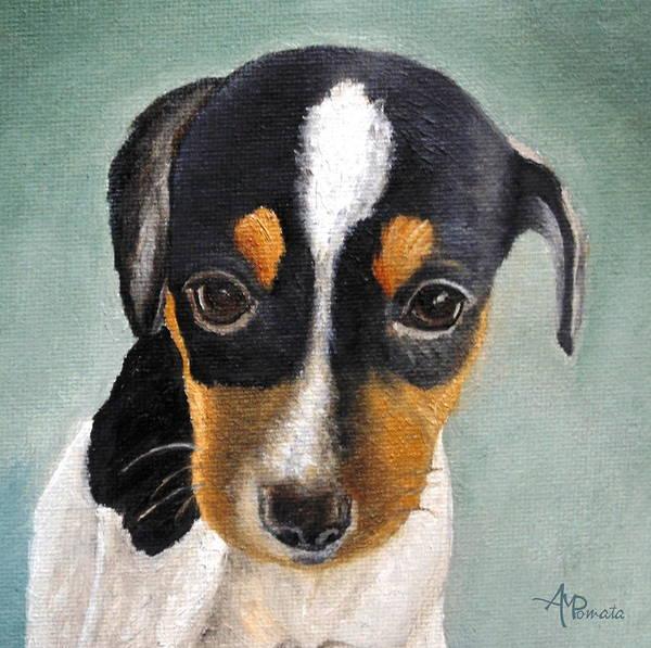 Painting - Doe-eyed Glance by Angeles M Pomata