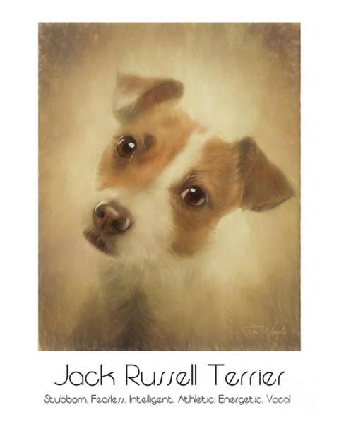 Digital Art - Jack Russell Terrier Poster by Tim Wemple