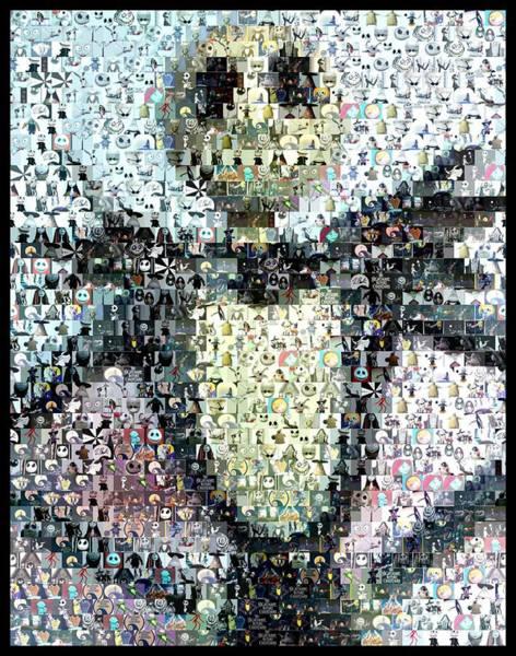Nightmare Digital Art - Jack Skellington Mosaic by Paul Van Scott