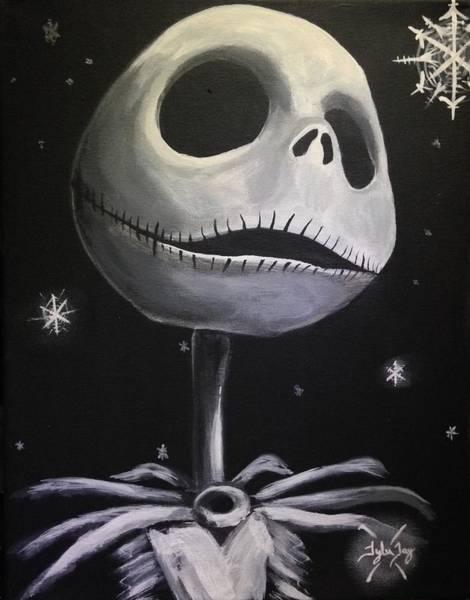 Skellington Painting - Jack Skellington by Tyler Haddox