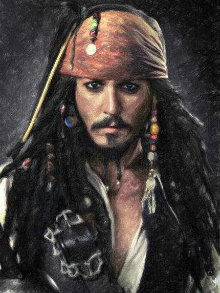Wall Art - Painting - Jack Sparrow by Zapista Zapista