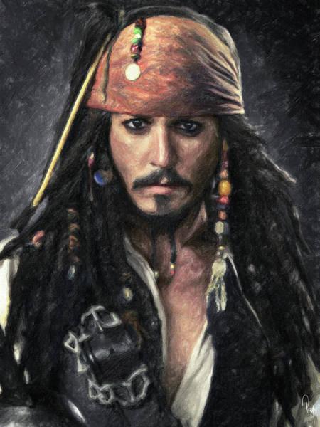 Johnny Depp Painting - Jack Sparrow by Zapista Zapista