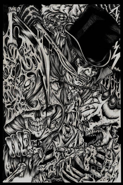 Tattoo Flash Painting - Jack The Ripper by N Emesis