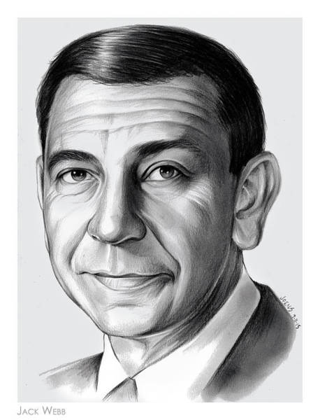 Drawing - Jack Webb by Greg Joens