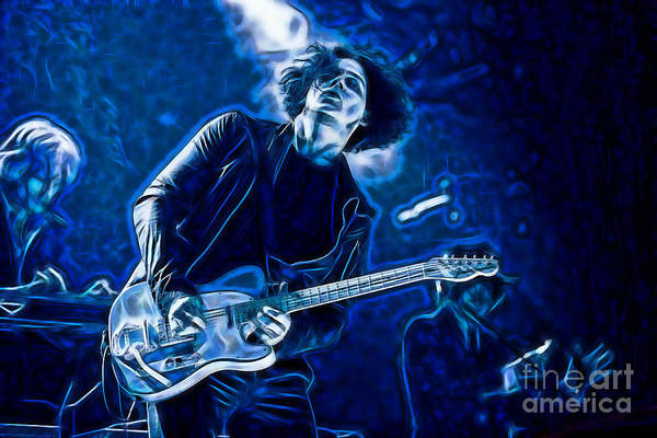 Wall Art - Mixed Media - Jack White Collection by Marvin Blaine