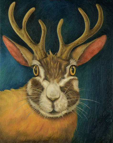 Painting - Jackalope 2 by Leah Saulnier The Painting Maniac