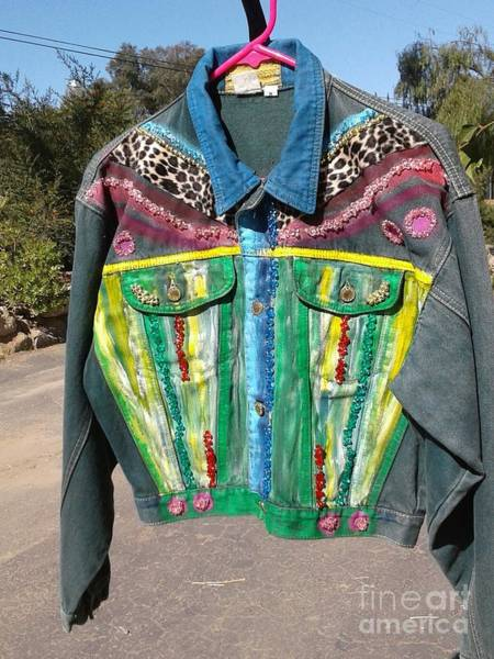 Tapestry - Textile - Jacket Green Fields by Sigrid Tune