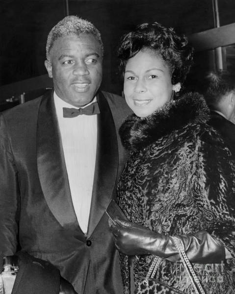 Jackie Robinson Wall Art - Photograph - Jackie And Rachel Robinson Pose For Cameras. 1960 by William Jacobellis
