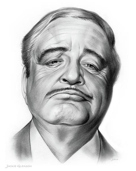 Television Drawing - Jackie Gleason by Greg Joens