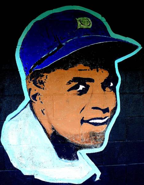 Hitter Painting - Jackie Robinson by Ralph LeCompte