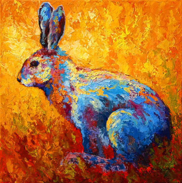 Haring Painting - Jackrabbit by Marion Rose