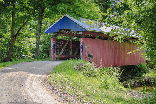 Photograph - Jacks Hollow Covered Bridge  by Jack R Perry